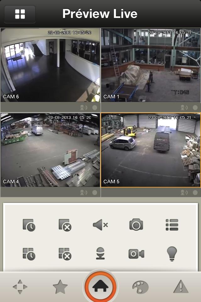 preview caméra 4 vues