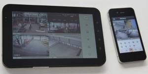 tablette vue 4 caméras
